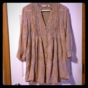 Women's True Grit Embroidered Top size Small S